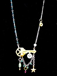 Steampunk necklace by Richard Bradley for My Pink Planet